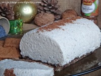 bûche fromage speculoos
