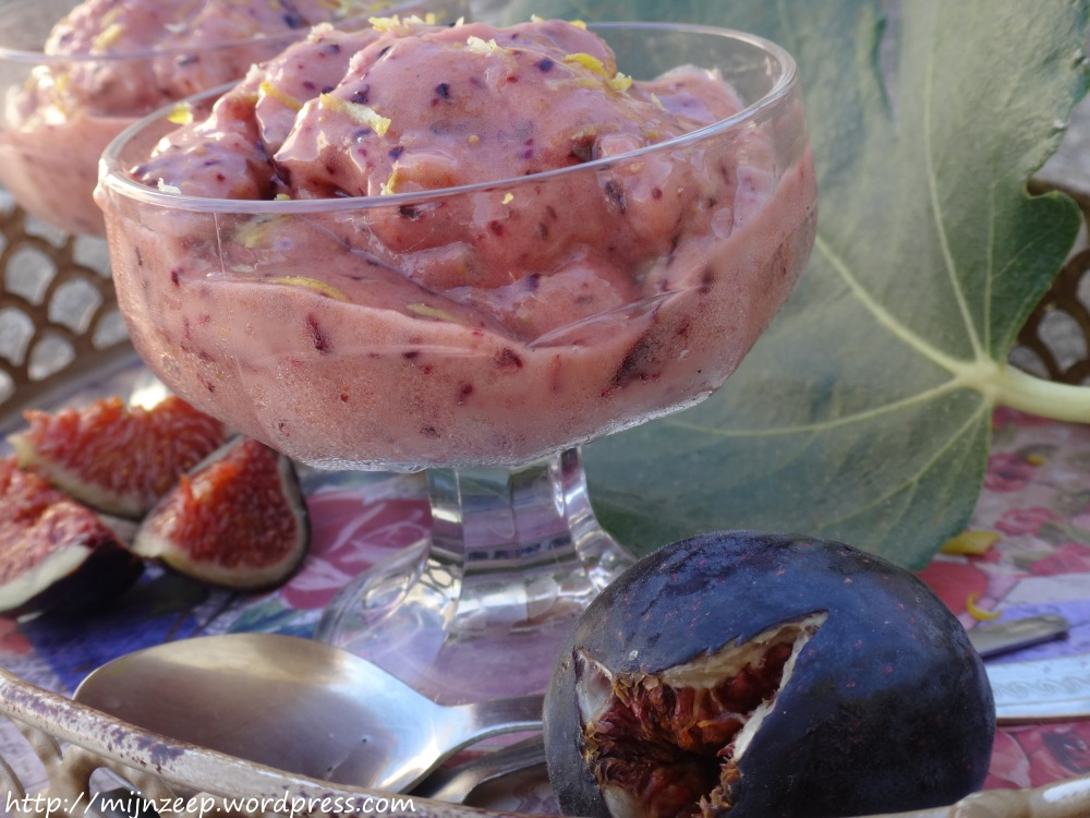 Raw vegan fig ice cream