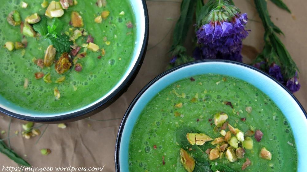 Cucumber-ananas gazpacho