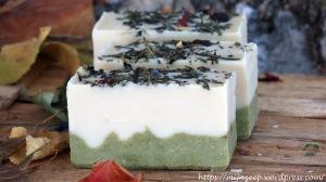 Zucchini juice soap